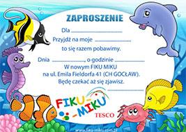 imprezy dla dziecka Warszawa - zaproszenie